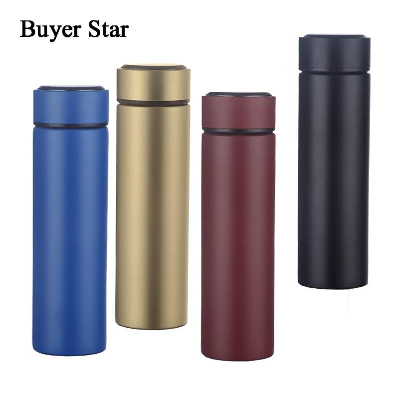 Comprador estrella elegante ventosa Acero inoxidable 18/8 botella de agua portátil de negocios vaso 16 oz termo jarra