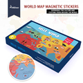 Mideer 131pcs Baby Toys 3D Magnetic Puzzles World map Puzzles Fridge magnet Tangram Child Educational Gift