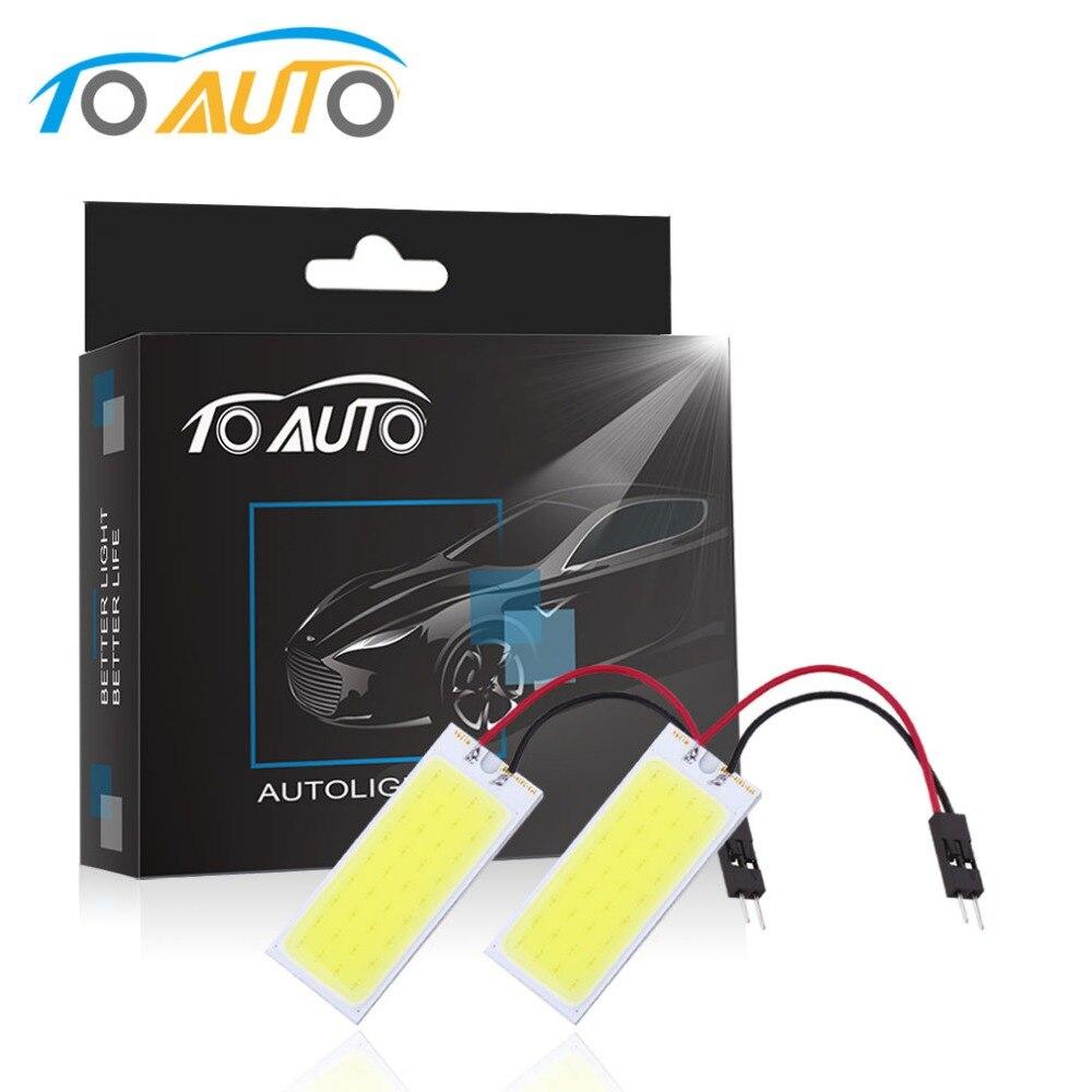 2 шт 6 Вт COB 36 светодиодный автомобиля Панель Readling свет T10 BA9S гирлянда адаптер W5w C5W T4W светодиодный автомобилей лампочки автомобильные лампочки лампа