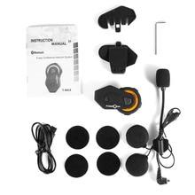 T-MAX Motorcycle Headset 6 Riders Communication 1200m Motorbike Helmet Group Intercom FM Radio Bluetooth 4.1 Intercom Headset