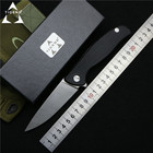 TIGEND Hati 95 Flipper folding knife D2 blade G10 + steel handle camping hunting outdoor survival pocket Kitchen knives edc tool