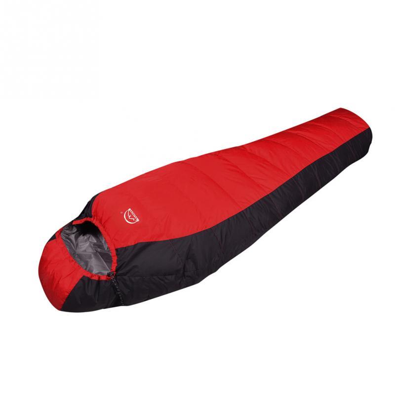 90% Down Single Sleeping Bag Silkworm Pupa Warm Outdoors Travel Bed Extreme Weather Lightweight Envelope Sleeping Bag