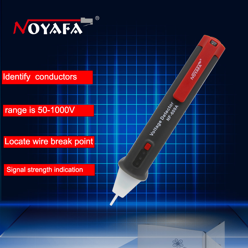 Multiple Induction Pencil Non-contact Electrical Test Pencil 50-1000V AC Voltage Detector Tester Indicator Locate Wire Break 609