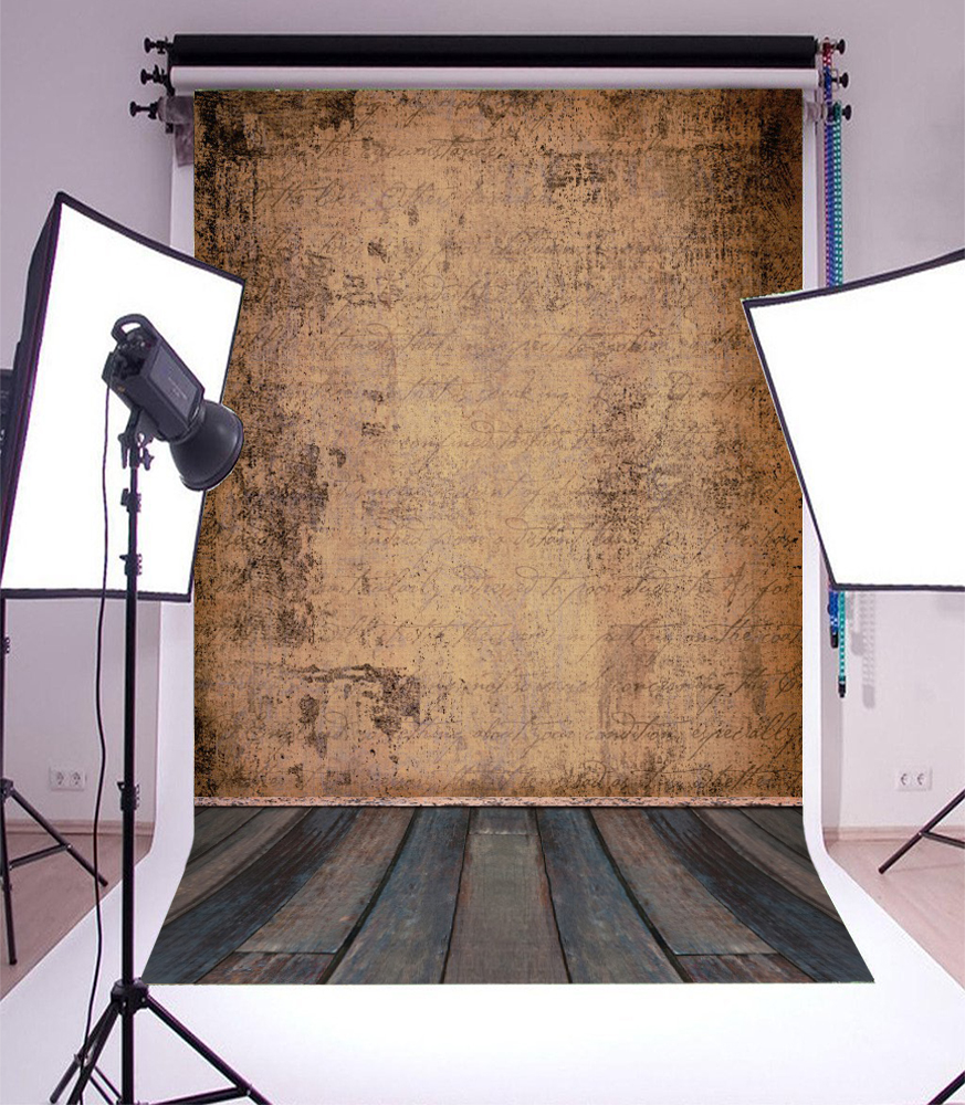 Laeacco Old Deserted Wall Wooden Floor Child Portrait Grunge Photo Background Customized Photographic Backdrops For Photo Studio in Background from Consumer Electronics