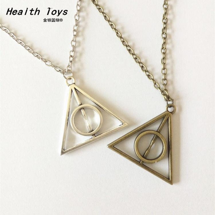 Hot Sale 2019 Luna Deathly Hallows Triangle Circular Vintage Long Necklaces Action Toy Figure
