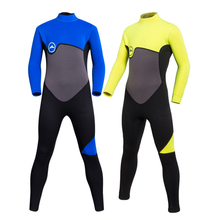 цены Children sunscreen long sleeve one-piece swimsuit boys and girls jellyfish sunscreen warm snorkeling suit diving suit 2mm