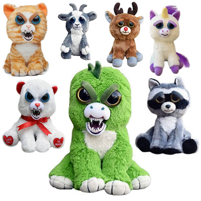 Feisty Pets Change Face Stuffed Panda Cats Rabbit Freddy Bear Animals Plush Toys Doll For Baby Kids Christmas Gifts