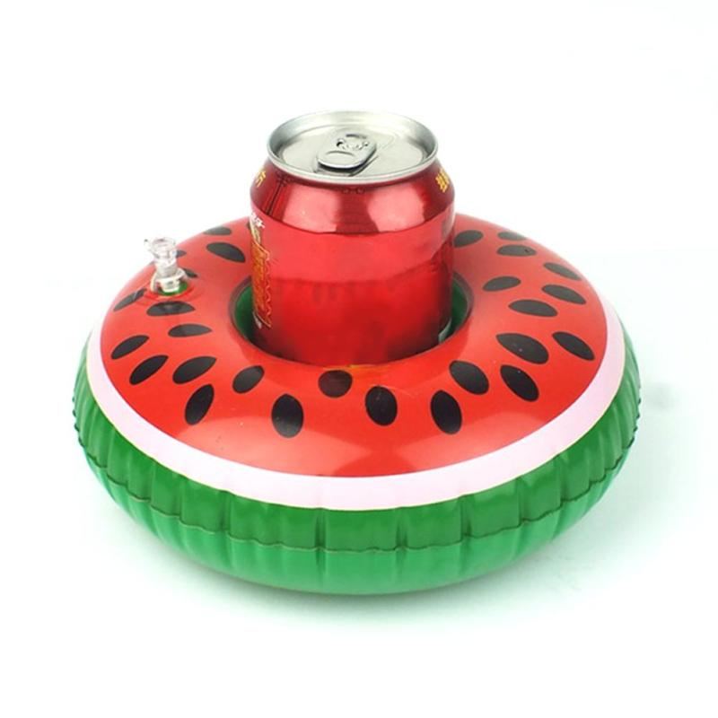 1PC Swim Beverage Coaster Watermelon Beach Inflatable Drink Coaster For Swimming Pool Sport Y3
