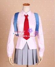 Anime Kamisama Kiss Numano Himemiko Cosplay Costume Japanese School Uniform Shirt+Skirt+Tie+Bag