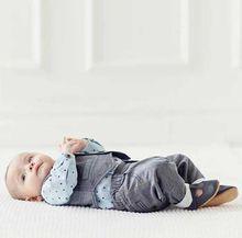 2016 Nouvelle Automne de Mode au détail 4-24 m bébé garçon vêtements 3 pcs bébé vêtements set manches longues étoiles chemise + gilet + pantalon gentleman costume