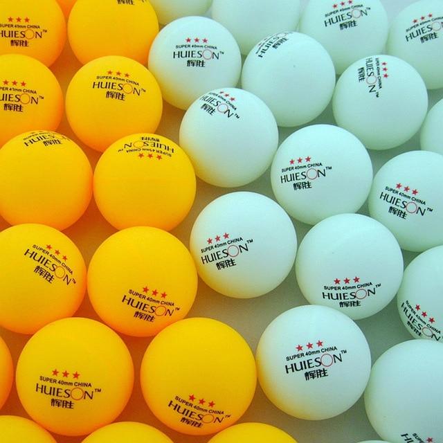 30 50 100 pcs 3-Star 40mm 2.9g Branco Laranja Pingpong Bola Bola Treinamento Amador Avançado Mesa bolas de tênis De Ping pong Bola