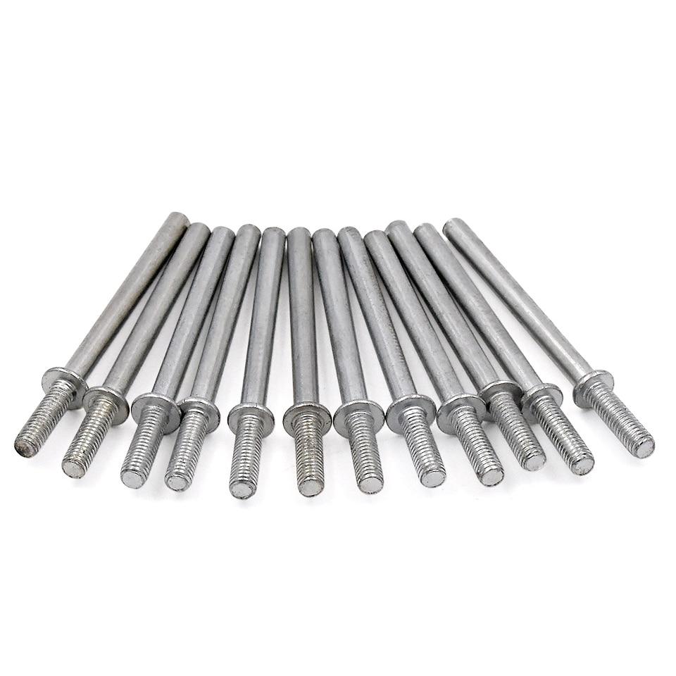 10 Stks Houtbewerking Tool Lange Schurende Punt Doorn Schuurpapier polijsten Split Doornen F / Voor Dremel Rotary Grinder Tool