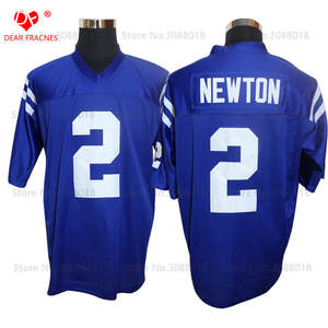 044496bd Shirt for Mens American Football Jerseys Cam Blue Retro Stitched High  School Throwback