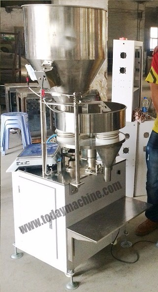 commercial granule weighing filling machine/beans weighing filling machine/detergent powder filling  stainless steel granule weighing filling machine with feeder