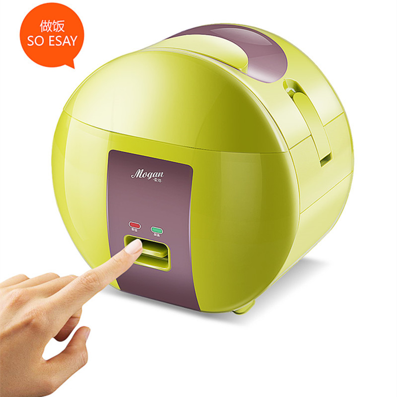 220v Mini Portable Electric Rice Cooker Cute Green Lunch Box Heating Rice Lunch For Student Officer Mini Multifunctional Cooker multi function electric lunch box stainless steel tank household pluggable electric heating insulation lunch box