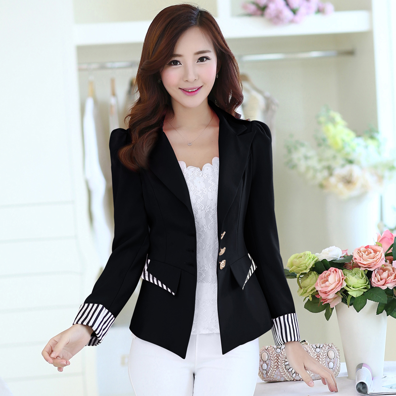 Blazer Black white blue rose red Lady Blazer Women 2018 New Spring Long Sleeve Suit Blazer Female Suit Jacket Slim Work clothes