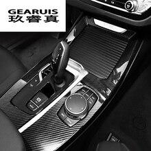 Стайлинга автомобилей Шестерни Цельнокройное Панель охватывает отделкой консоли стакана воды украшения полоса наклейки для BMW X3 G01 X4 авто аксессуары для интерьера