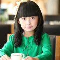 Evening Party Student Cute Baby Girl Large Waves Curly Hair Wig Children 's Neat Bang Black Brown Hair Wig