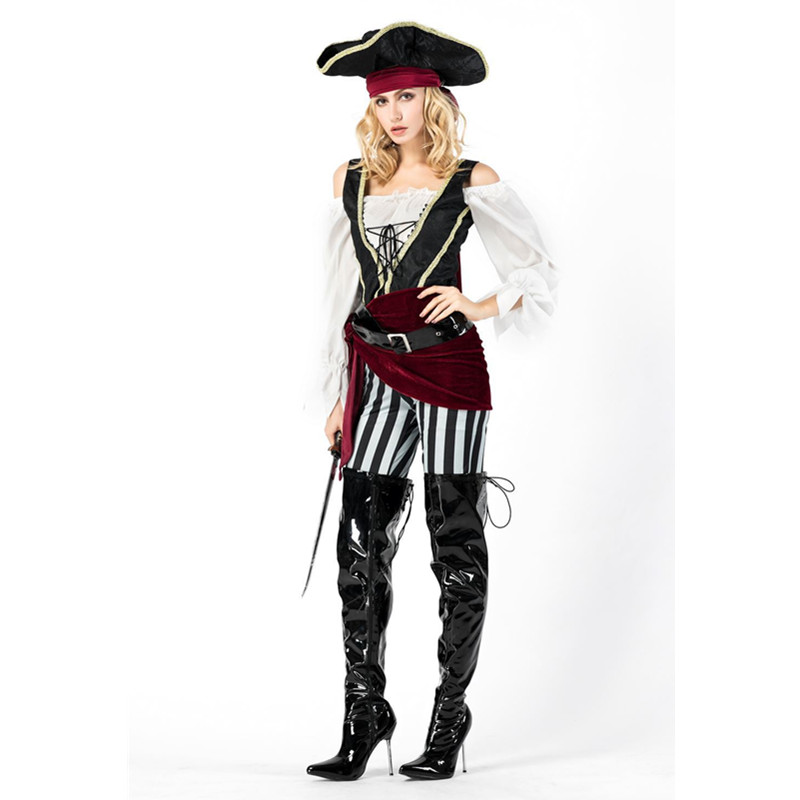 New Arrival Adult Women Pirate Luxury Cosplay Costume Purim Carnival Halloween Fancy Dress Novelty & Special Use