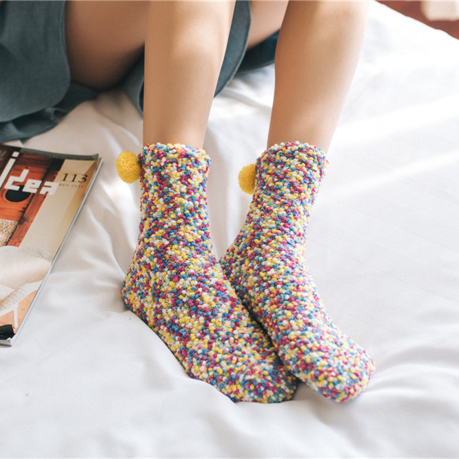 Women Clothing Candy Fluffy Socks Warm Winter Christmas Gift