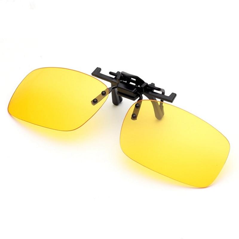 Polarized Clip On Sunglasses Driving Night Vision Lens Sun Glasses Male Anti-UVA UVB For Men Women With Case & Glasses Cloth