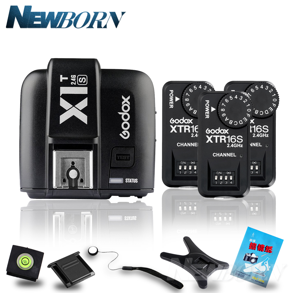 купить Godox X1T-S TTL 2.4G Wireless Trigger for Sony+3x XTR-16S Flash Receiver for godox V850/V860C/V850II/V860IIC/V860N/V860II-F по цене 4714.95 рублей
