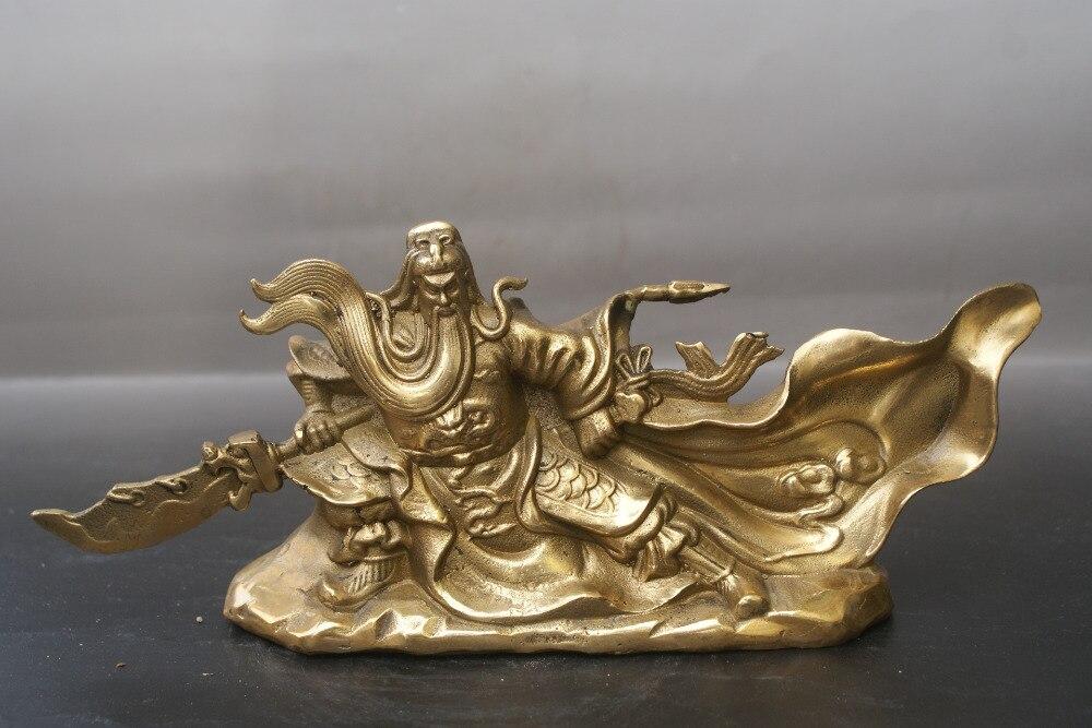 Chine ancienne statue en Bronze Guan Yu culte statue en cuivre de FengshuiChine ancienne statue en Bronze Guan Yu culte statue en cuivre de Fengshui
