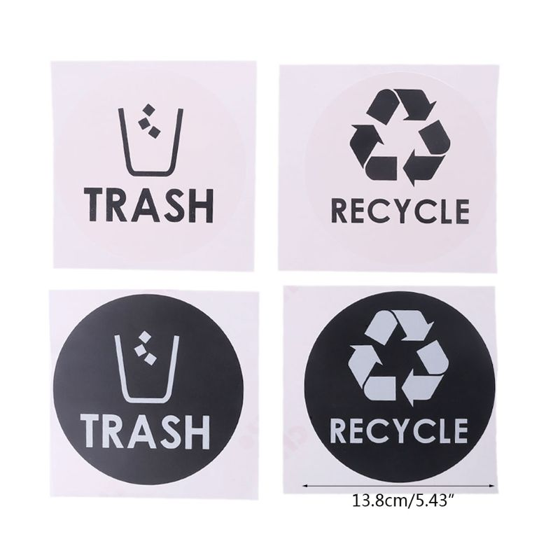 2 x adesivi riciclaggio Recycle logo simbolo Vinile Adesivi Bin