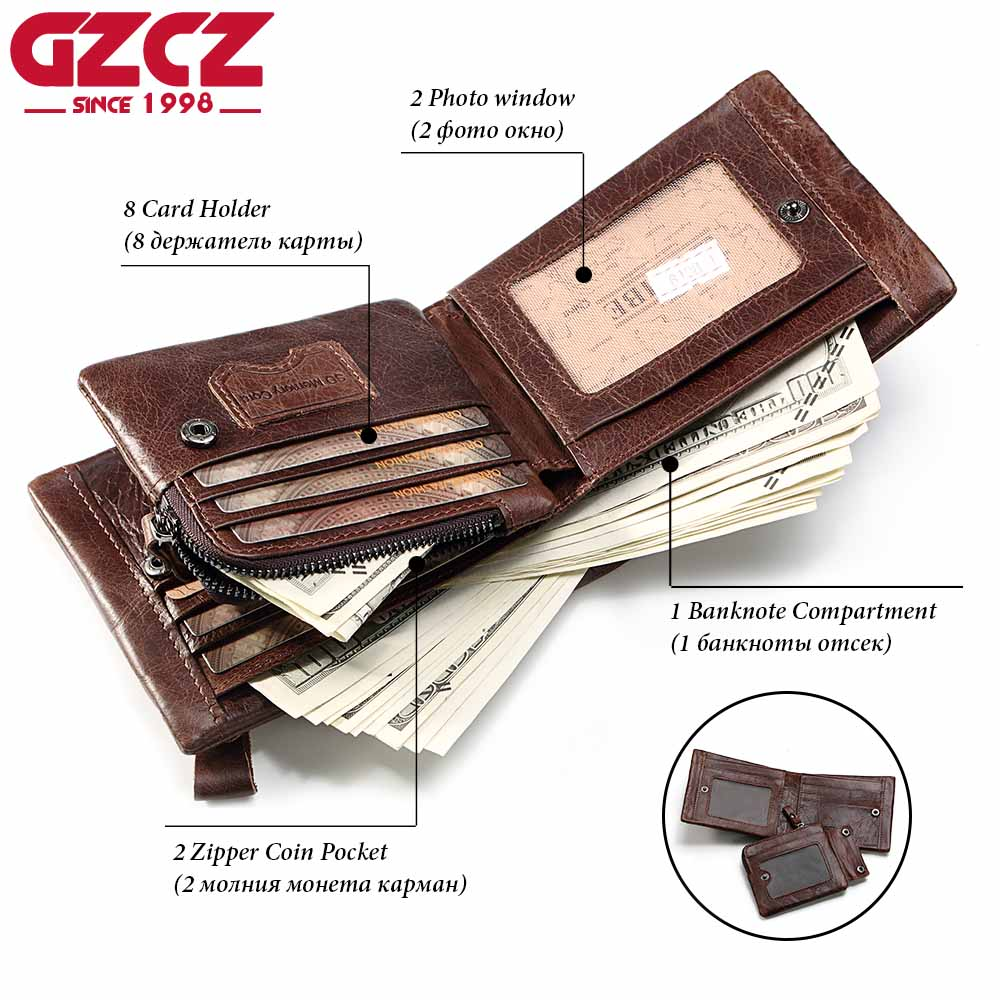 masculino projeto pequeno grampo do Modelo Número : Gz0002(card Holder Mini Purse Vallet Genuine Leather Wallet)