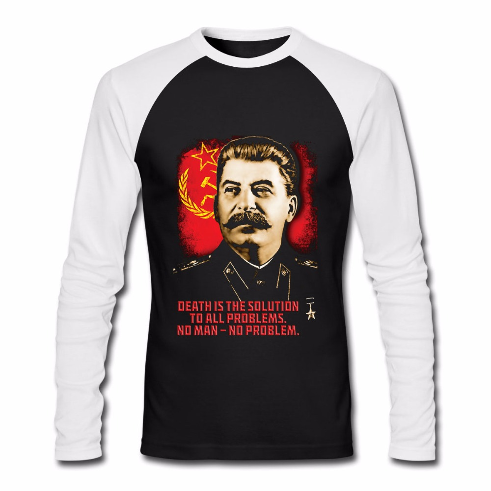 ALLIED NATIONS JOSEPH STALIN Russia Flag T-Shirt Unisex Men Women Long Sleeve Casuals Cotton Shirts Euro Size S-3XL stalin s children