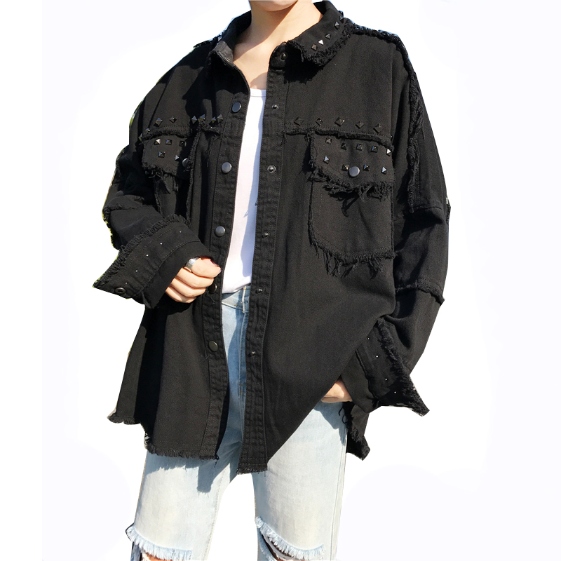 Punk Jacket Loose Bf Style Casual Turn