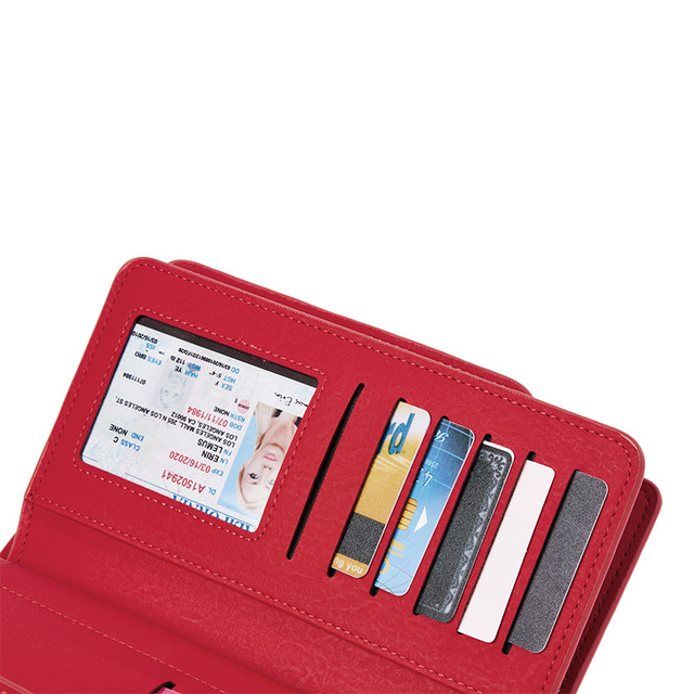 Leisure Red Style 3 Fold PU Leather Wallet