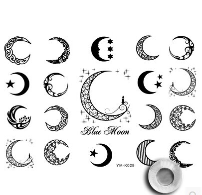 Us 19 9 Ts 36 Unisex Moon And Star Tattoo Art Primitive Tribal Sun Temporary Tattoo Set From Old Fashion Week In Temporary Tattoos From Beauty