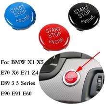 Автомобильный кнопка запуска двигателя поверните крышку переключатель аварийной остановки аксессуары для ключей Настенный декор для BMW X1 X5 E70 X6 E71 Z4 E89 3 5 серии E90 E91 E60