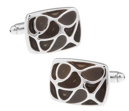 2cac3cb9233 IGame Abotoaduras Dos Homens de Varejo Preço de Fábrica Cor Cinza Material  de Bronze Esmalte Projeto Ligações de Punho