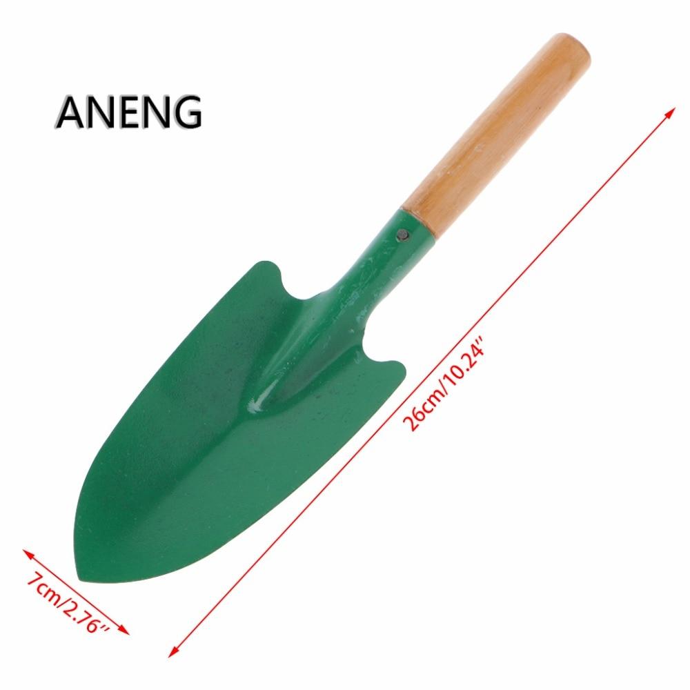 Wooden Handle Reinforced Gardening Shovel Loose Soil Planting Easy Use