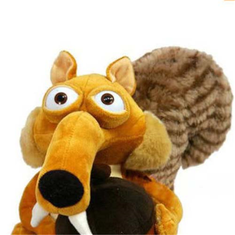 New Hot Sell Animal Doll Ice Age 3 SCRAT Squirrel Stuffed Plush Toy 7 For Toddler Baby Boy Girl Bedding Toy Intelligent Excerise