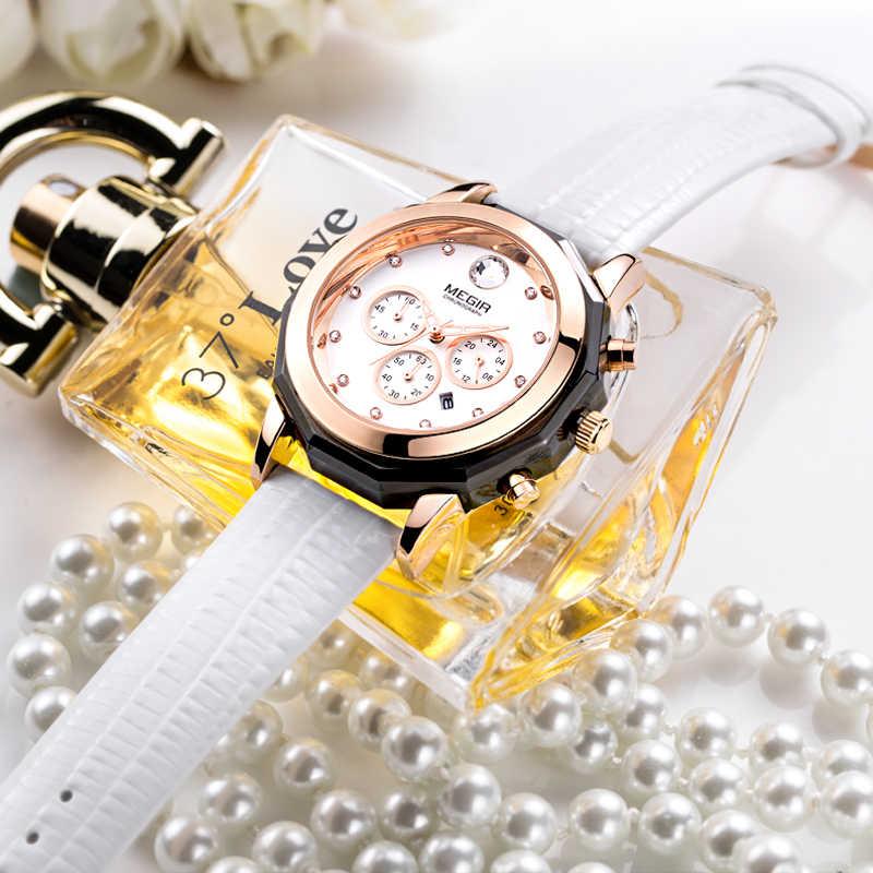 Megir moda vermelho branco relógio de couro genuíno banda feminina pulseira relógios quartzo relógio pulso à prova dwaterproof água relogio feminino