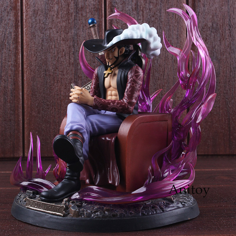 Action Figure One Piece Anime Figure Dracule Mihawk One Piece GK Statue PVC Collectible Model Toy 19cm стоимость