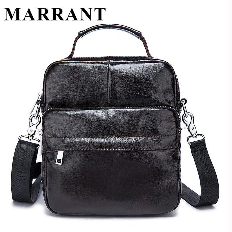 ФОТО MARRANT Genuine Leather Men Bag Men Messenger Bags Fashion Small Shoulder Crossbody Bags for Man Handbag Men's Leather Bag Flap
