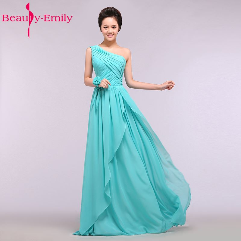2018 New Custom Made Blue Chiffon   Bridesmaid     Dresses   Female Formal Party Prom   Dresses   A-Line V-Neck