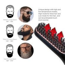 Beard Straightener Brush Professional Hairdressing Comb Multifunctional Man Woman Hair Straightening Brush Beard Electric Comb