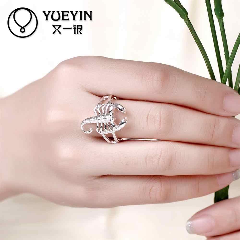Kształt skorpiona posrebrzany nowy projekt palec serdeczny dla pani osobowości zwierząt moda biżuteria w stylu Vintage R739-8