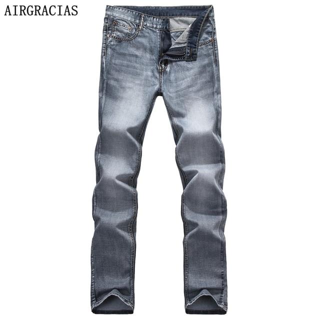 Airgracias Brand Spring Summer Retro Nostalgia Straight Denim Jeans Men Size 28 40 Casual