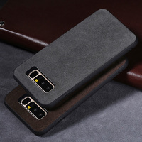 Phone Case For Samsung Galaxy S7 S8 S9 Plus Note 8 9 Case Suede leather Back Cover For galaxy A5 A7 A8 2017 j3 j5 Case