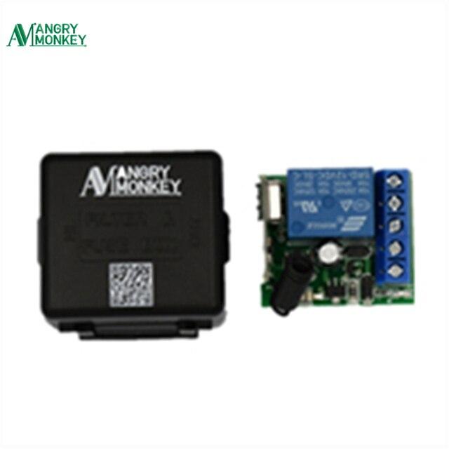433 mhz אלחוטי שלט רחוק מתג DC 12 v 10A 1CH ממסר 433 mhz מקלט מודול עבור 1527 למידה קוד משדר מרחוק
