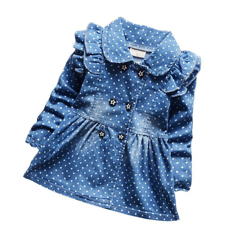 Obebekleidung & Mäntel Begeistert Bibicola Frühling Herbst Kinder Denim Jacken Für Mädchen Tupfen Jeans Jacken Weibliche Baby Baumwolle Revers Mantel Kinder Oberbekleidung