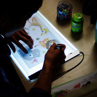 1 Set A4 Tracing Drawing Board LED Artist Thin Art Stencil Board Light Box Tracing Drawing