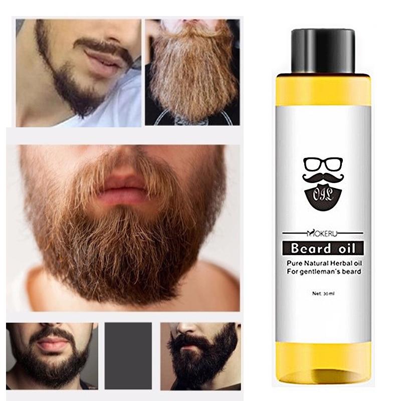 Mokeru 30ml Natural Barba Oil Serum Organic Beard  Oil Hair Loss Products Beard Growth Oil For Men Grooming Care