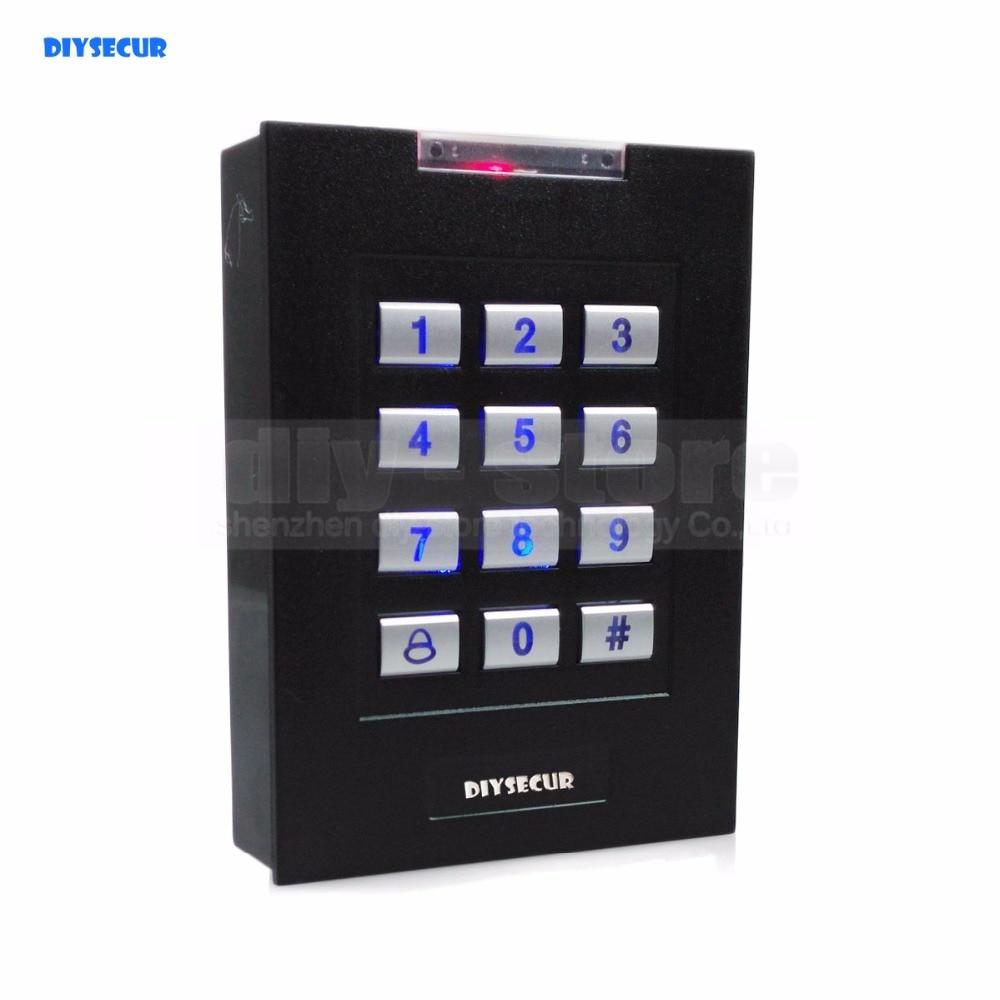 DIYSECUR ID Card Reader Keypad RFID 125KHz  Access Control System Kit +10 Key Fobs Brand New usb pos numeric keypad card reader white